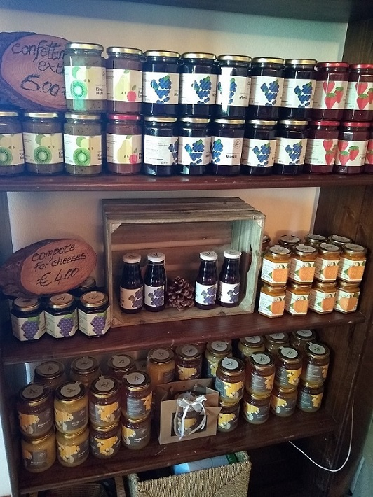 La Tensa's homemade jams slow food Northern Piedmont