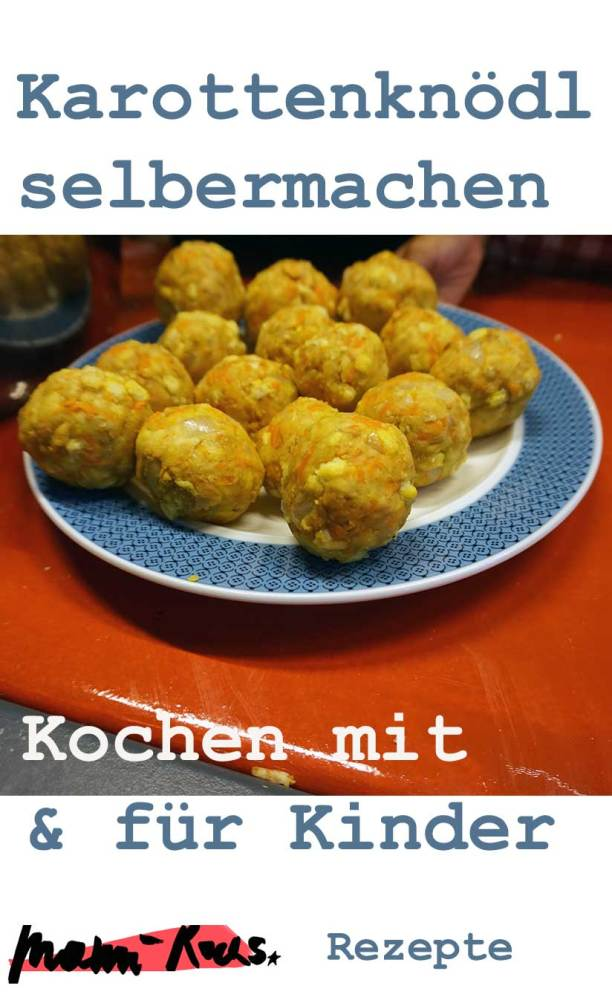 Kochen mit Kindern: Rezept Karottenknödel