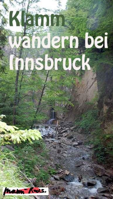 Klammwanderungen bei Innsbruck
