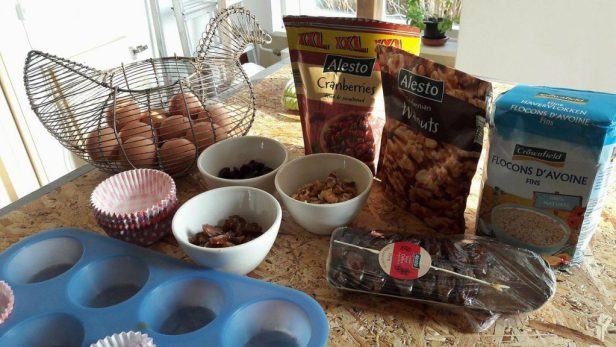 ingrediënten voor ontbijtmuffins