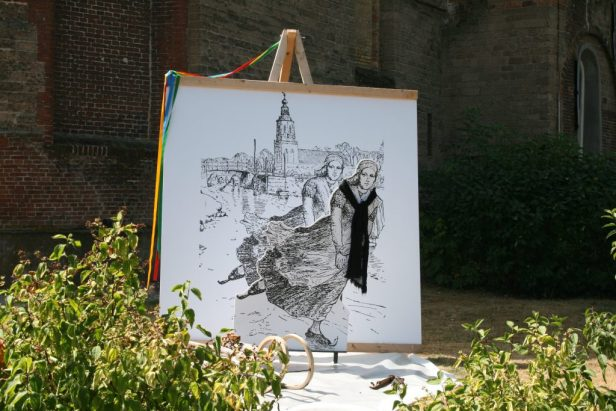 Elfsteden kunst in Grou pontjesroute