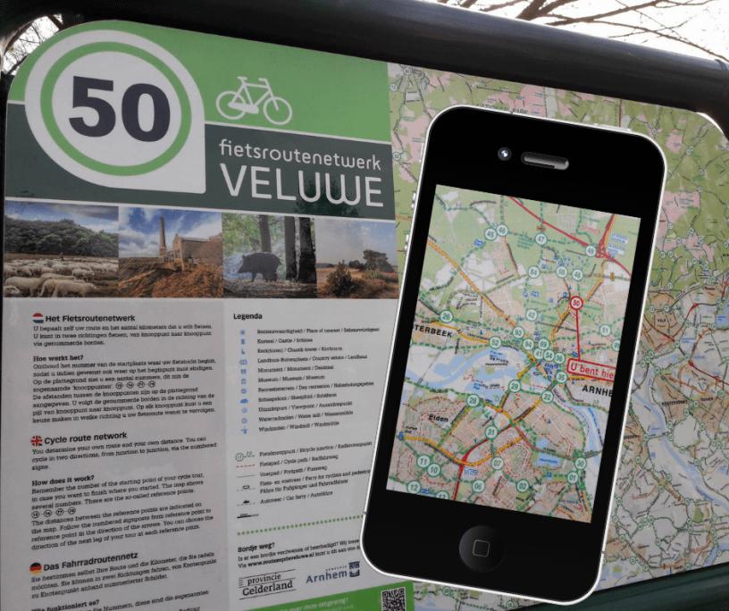 fietsroute app Arnhem