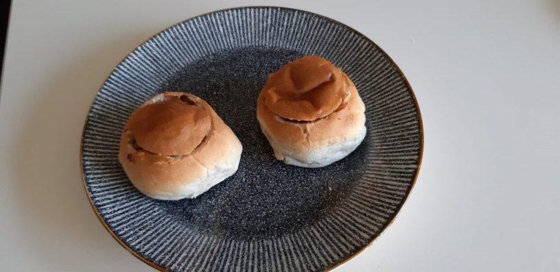 Gevulde broodjes met ham en ui