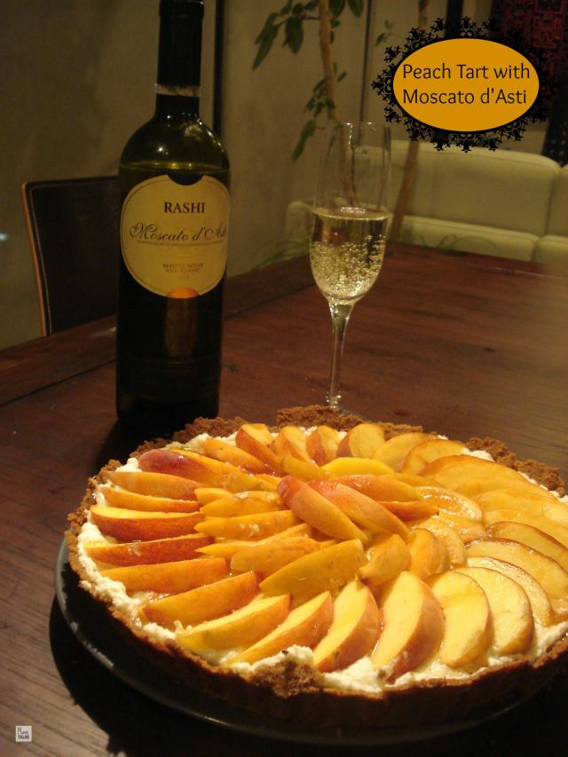 Peach Tart with Moscato d'Asti