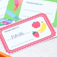 Back to School Printable Name Tags