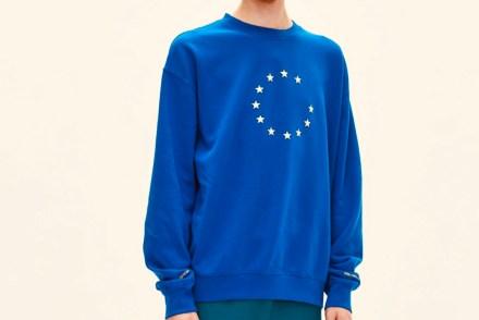 Europa-Fahne als Pulli. Der EUNIFY Sweater