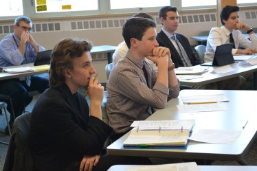 AP US History students participating in mock impeachment trials in January 2016