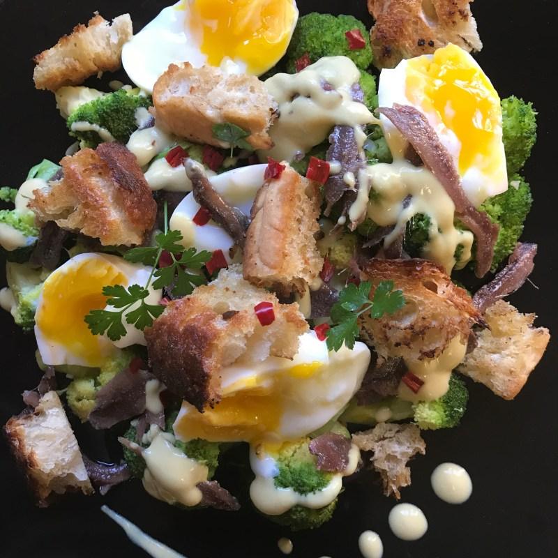festive freshness - broccoli boiled egg salad