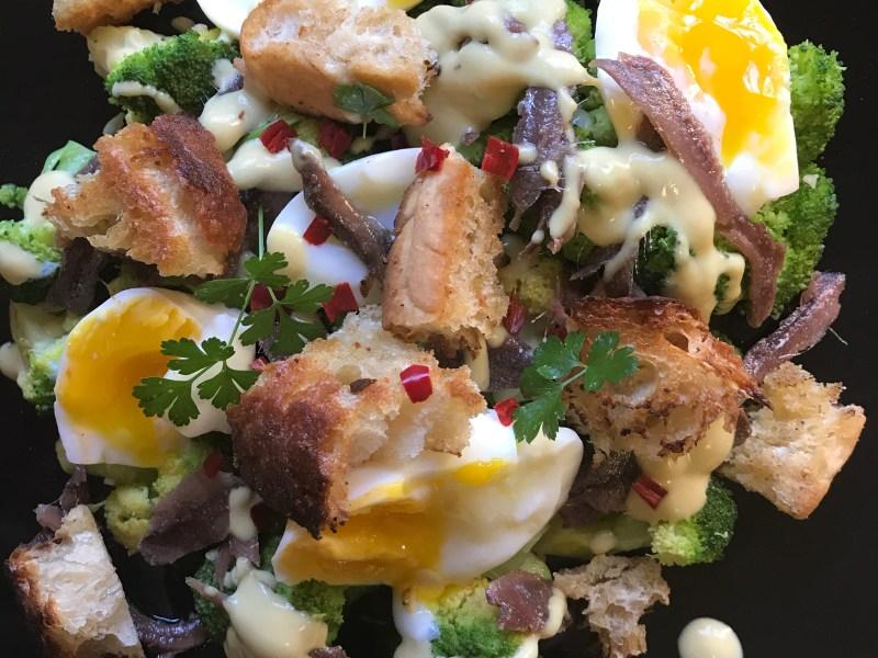festive freshness - broccoli boiled egg salad