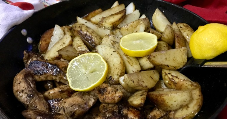 Garlic Butter Chicken and Potatoes – A One Pan Weekday Meal