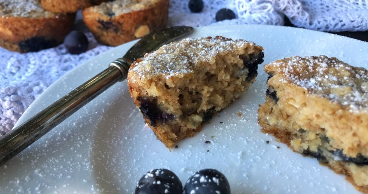 Yoghurt & Oats Muffins with Blueberries & White Chocolate