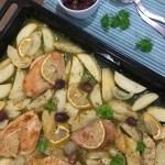 mediterranean chicken and potato bake recipe