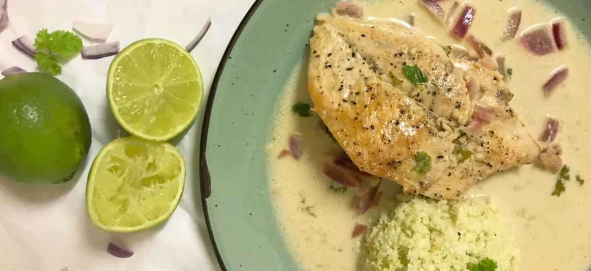 Coconut Lime Chicken (With Low Carb Cauliflower Rice)