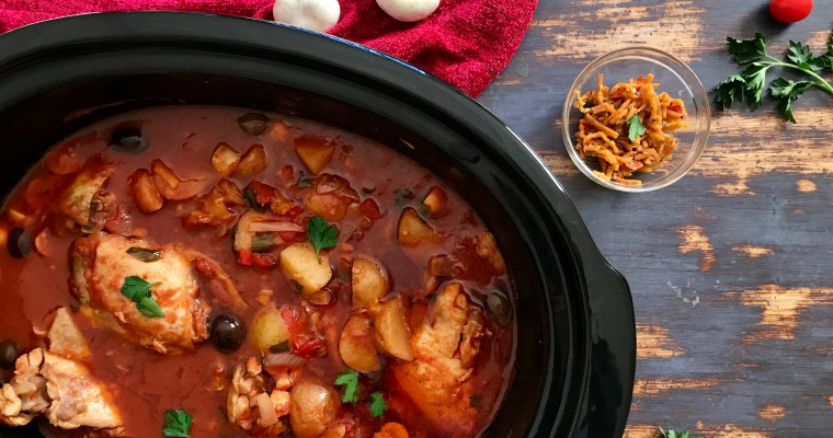Perfect Slow Cooker Chicken Cacciatore with Baby Potatoes