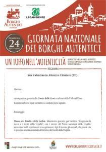 Giornata dei Borghi Autentici - San Valentino in Abruzzo Citeriore - Pescara