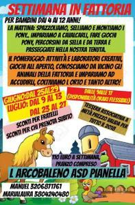 Campi Estivi in Fattoria L'Arcobaleno Asd Pianella