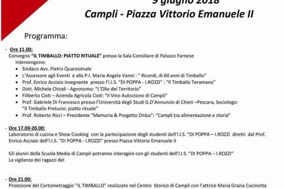 Musica e sapori di Timballo - Campli - Teramo