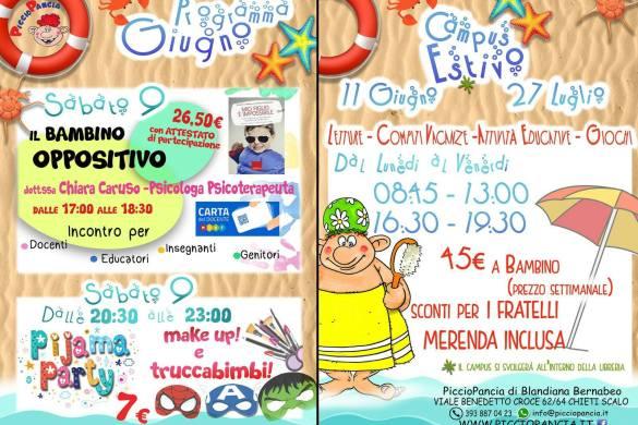 Seminario e Pigiama Party - PiccioPancia - Chieti