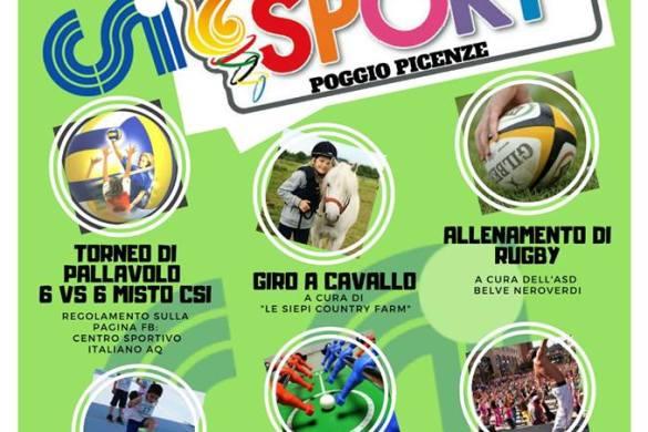 Festa dello sport - Poggio Picenze - L'Aquila