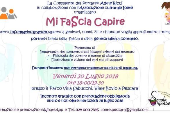 Mi Fascia Capire - Associazione Io e te - Pescara