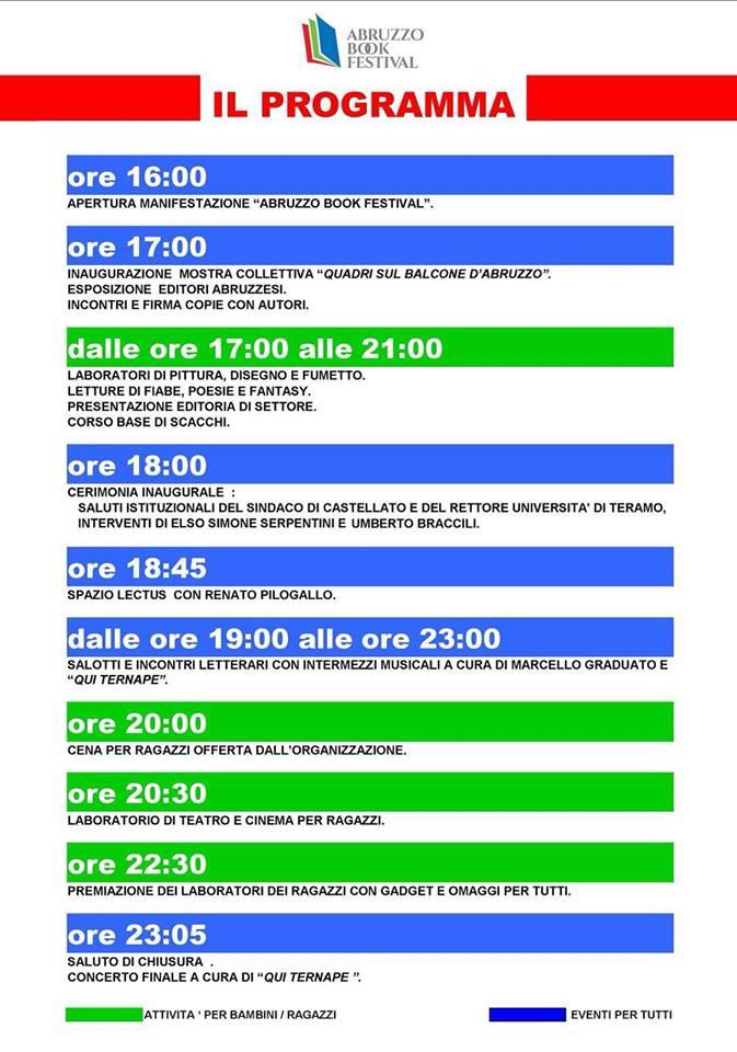 Programma Abruzzo Book Festival - Castellalto