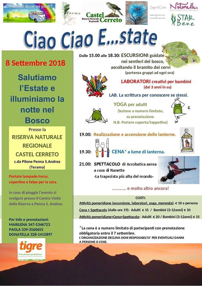 Ciao ciao Estate-Castel-Cerreto-Teramo-Eventi per famiglie