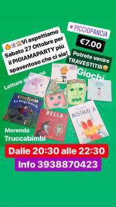 Pigiama-Party-Picciopancia-Chieti- Eventi per bambini Chieti