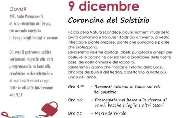 Coroncine-del-Solstizio-Il_Borgo-degli-Gnomi-Varano-Valle-San-Giovanni-Teramo - Eventi per bambini in Abruzzo weekend 7 - 9 dicembre