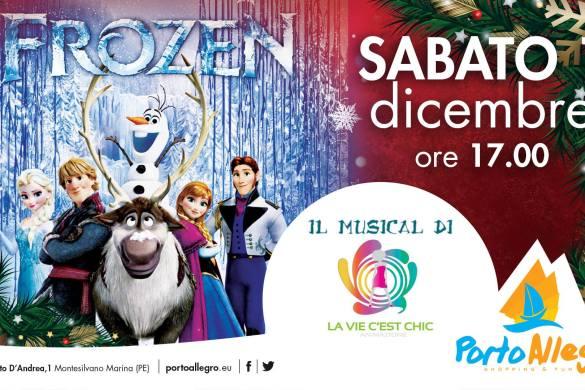 Frozen-Musical-CC-Porto-Allegro-Montesilvano-Pescara - Eventi per bambini in Abruzzo weekend 1 - 2 dicembre