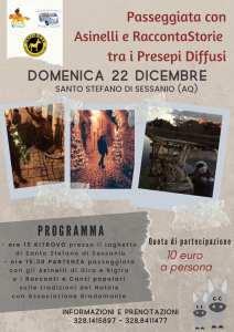 Passeggiata-con-asinelli-e-raccontastorie-a-Santo-Stefano-di-Sessanio-LAquila