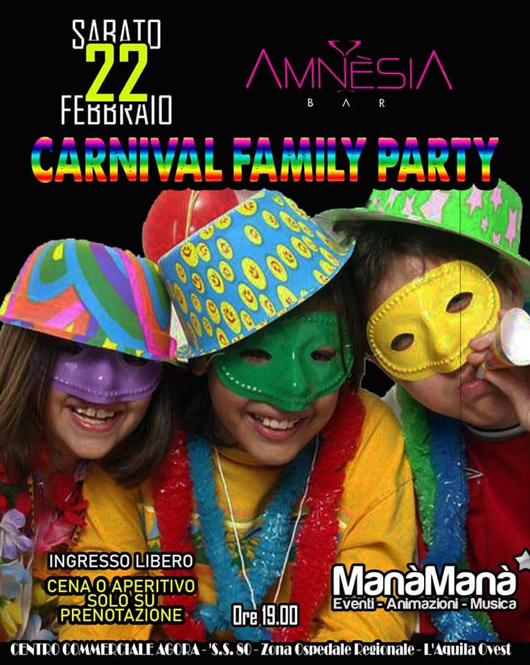 carnival-family-party-centro-commerciale-agora-laquila-ovest
