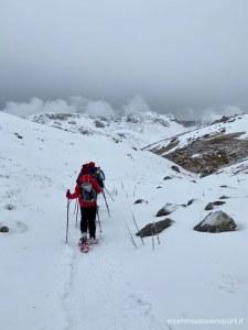 eliciaspolata a roccaraso ciaspolata sulla neve