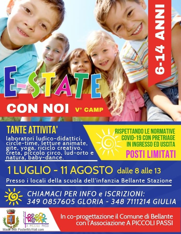 E-state con noi 2020 il campo estivo di A Piccoli Passi a Bellante