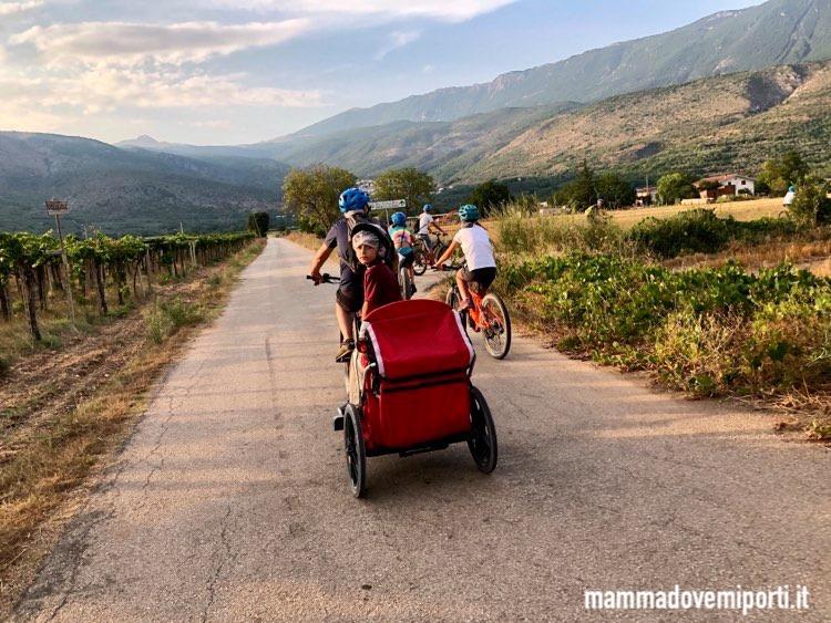 Campagne di Ofena durante l'escursione in e-bike con Il Bosso