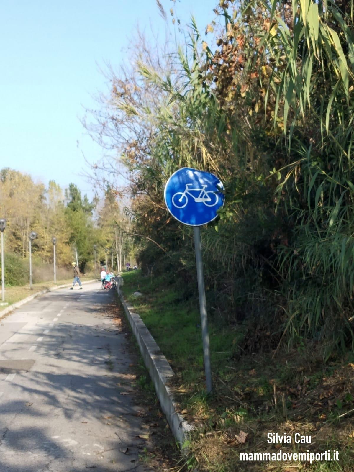 Piste ciclabili a Pescara: ingresso Pista Ciclabile Parco Fluviale