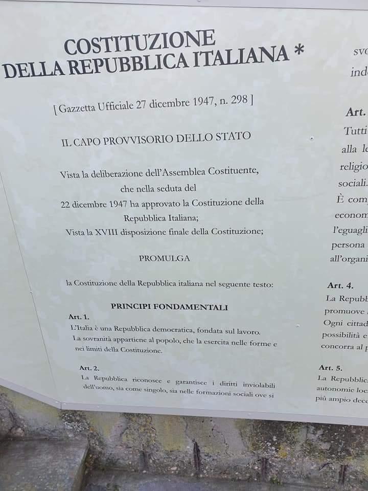 Castiglione Messer Raimondo video promozionale e Costituzione italiana