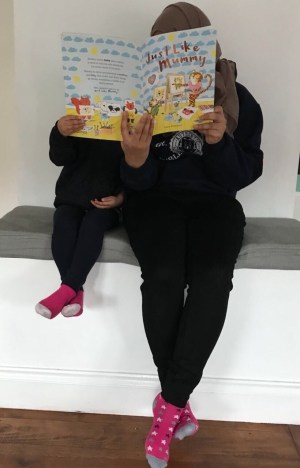 Little One & I enjoying Just Like Mummy.