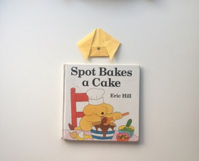 Spot Bakes a Cake origami