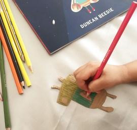 Adding colour to moth craft