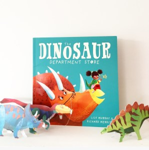 Dinosaur book pictured completed with 3D Dino models