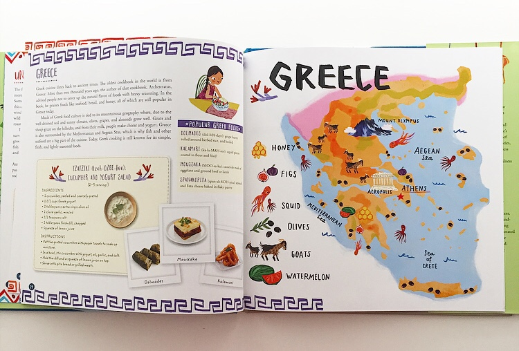 Extract from Whats on yur plate? showing information about Greece.