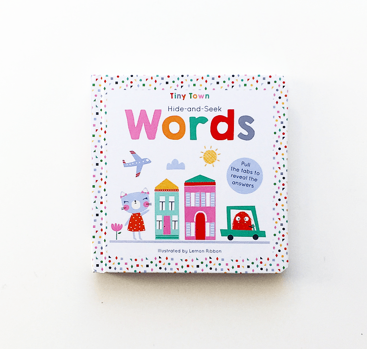Book cover of Hide and Seek Words board book