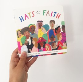 Front cover photo of board book Hats of Faith.