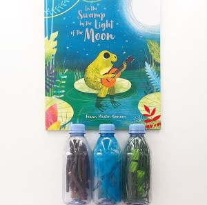 Sensory bottles accompanying In the Swamp by the light of the moon