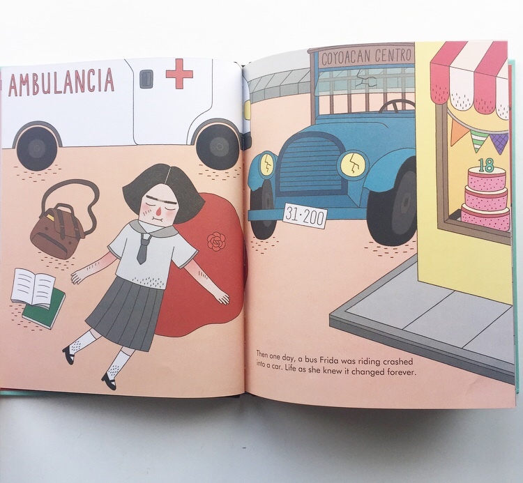 Frida Kahlo accident in Little People Big Dreams book