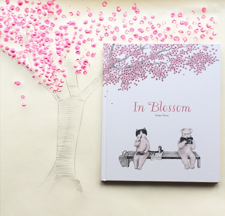 Spring blossom art work with book In Blossom