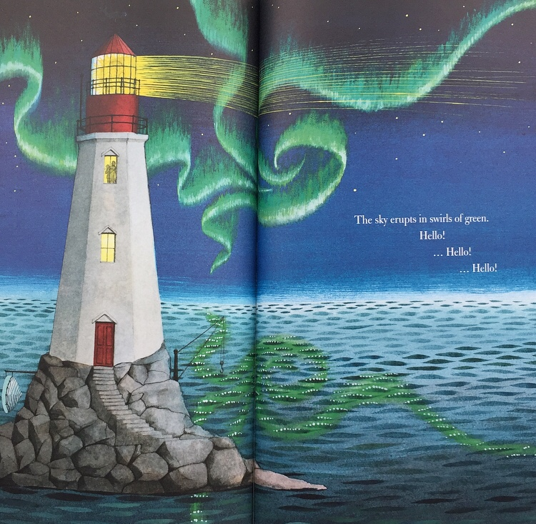 Weather changes represented in Hello Lighthouse picturebook.