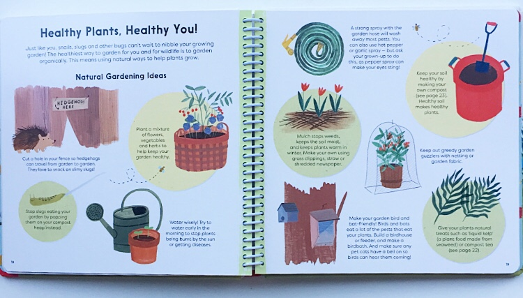 Healthy plants healthy you extract from gardening non-fiction books for kids.