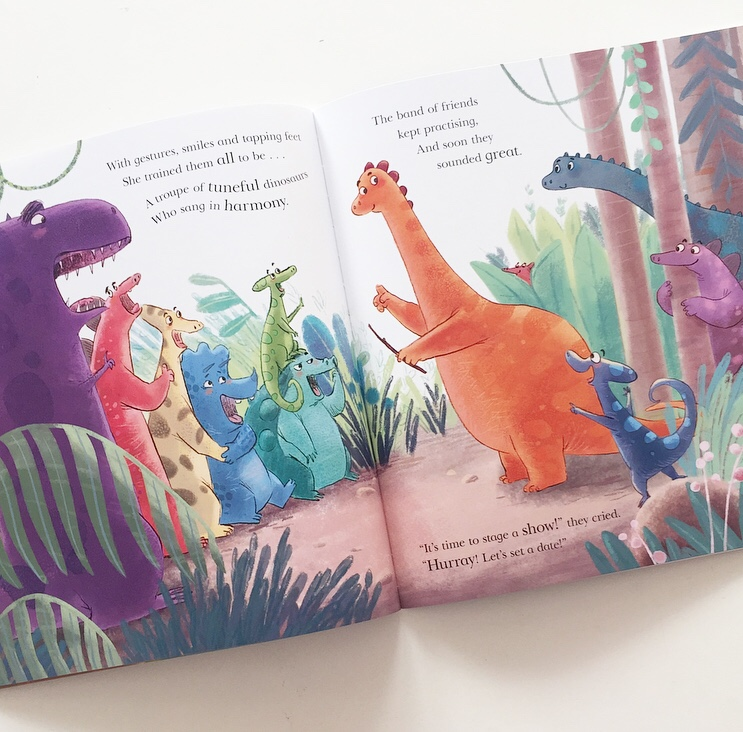 Book review for picture book The Dinosaur Who Lost Her Voice