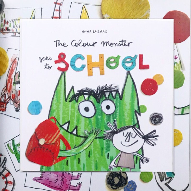 The colour monster goes to school book review on MammaFilz.com